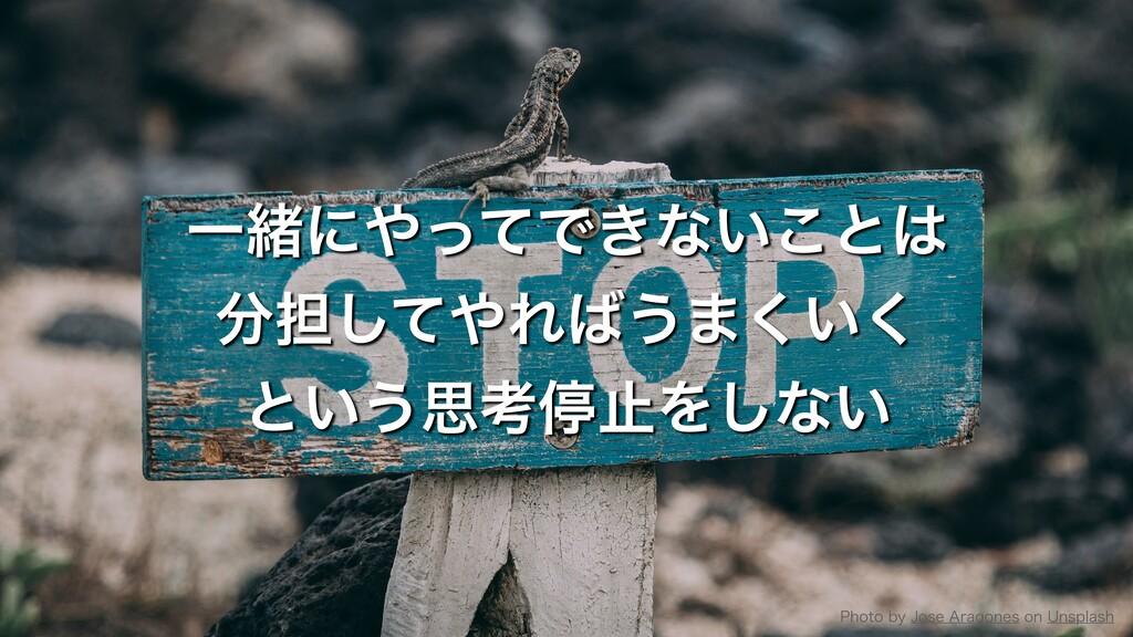 ҰॹʹͬͯͰ͖ͳ͍͜ͱ ୲ͯ͠Ε͏·͍͘͘ ͱ͍͏ࢥߟఀࢭΛ͠ͳ͍ 1IPUP...