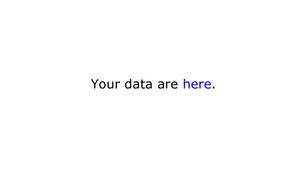 Your data are here.
