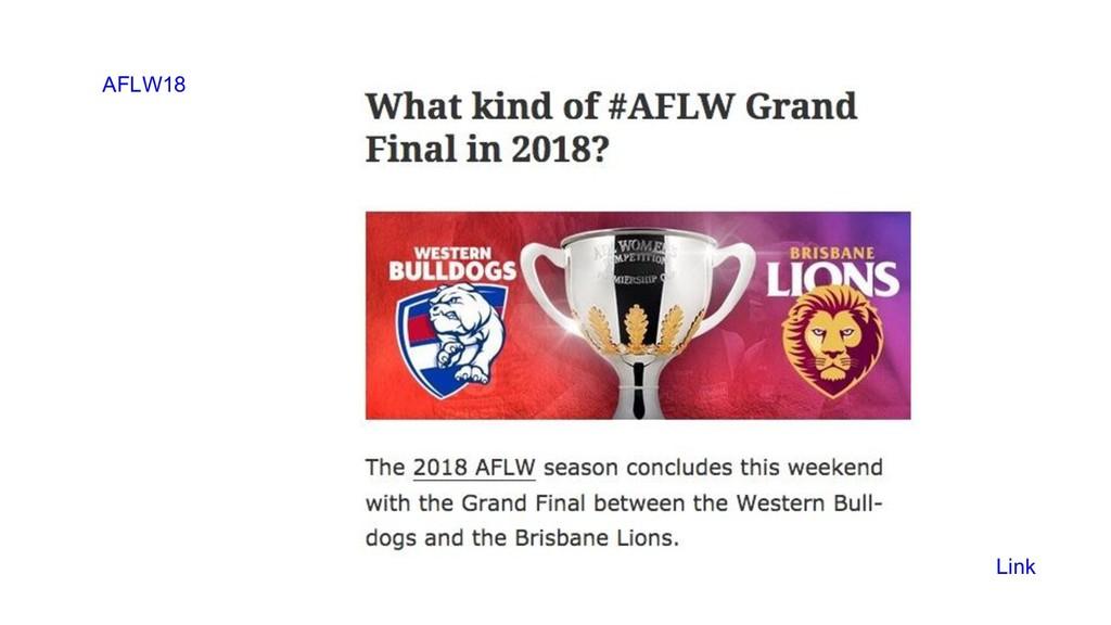 AFLW18 Link