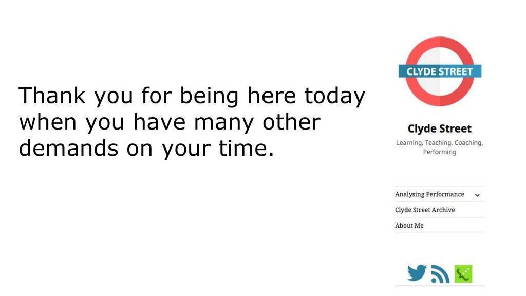 Thank you for being here today when you have ma...