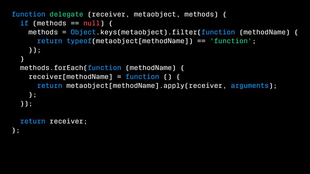 function delegate (receiver, metaobject, method...