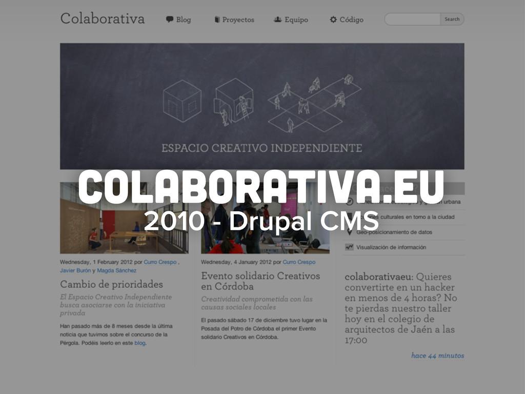 colaborativa.eu 2010 - Drupal CMS