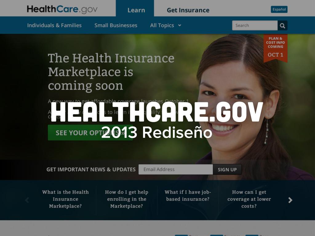 healthcare.gov 2013 Rediseño