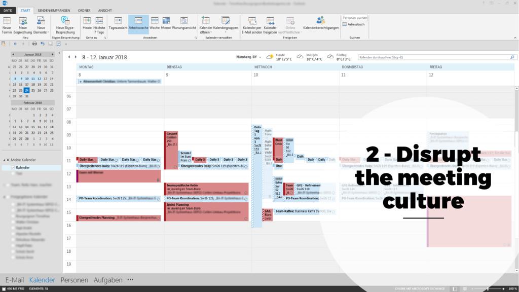 2 - Disrupt the meeting culture