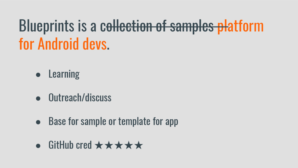 Blueprints is a collection of samples platform ...