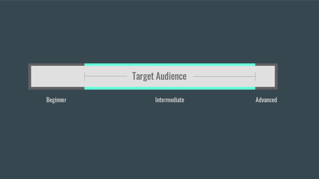 Beginner Intermediate Advanced Target Audience