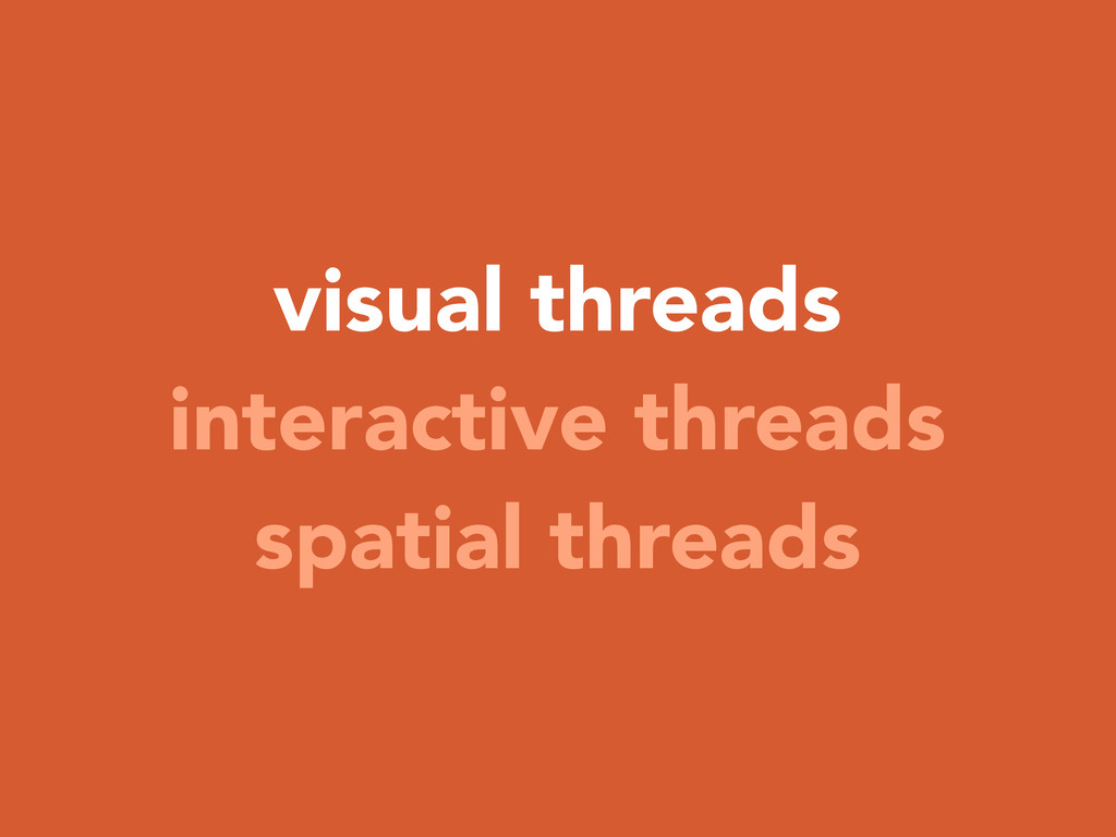 visual threads interactive threads spatial thre...