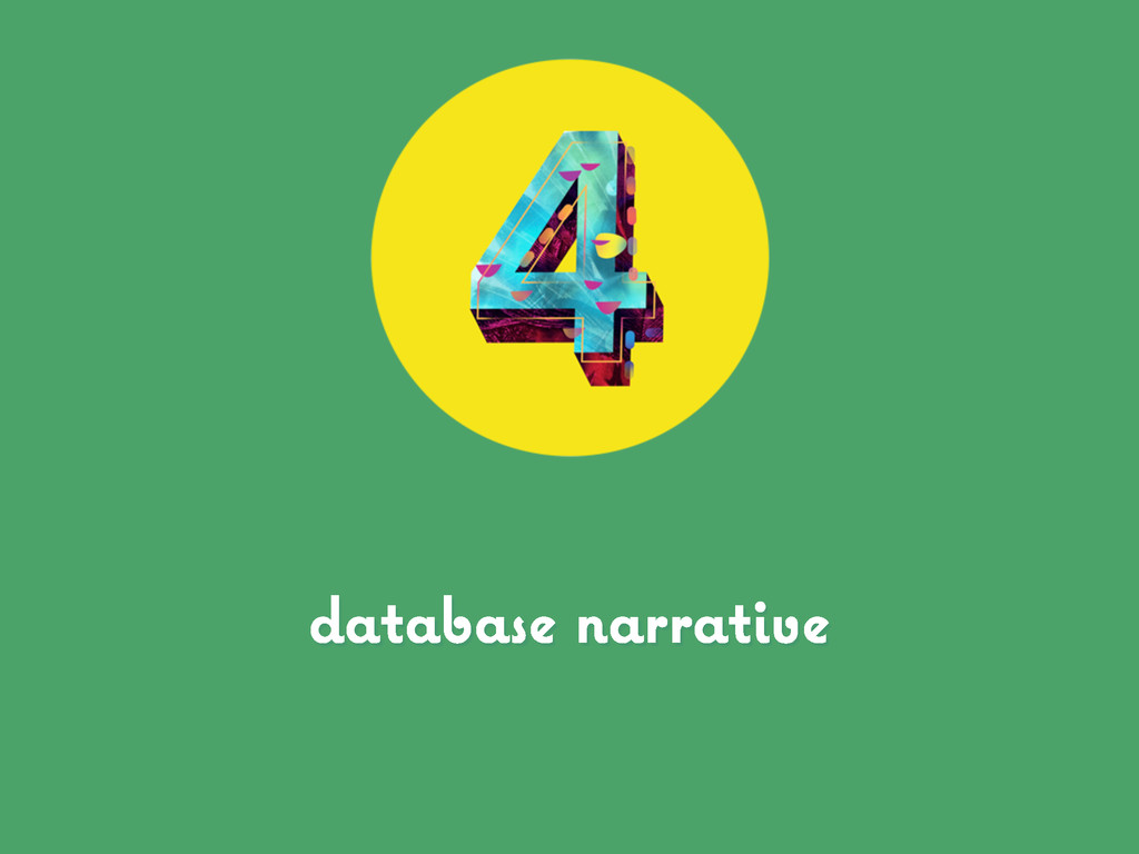 database narrative