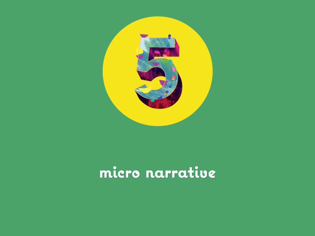 micro narrative
