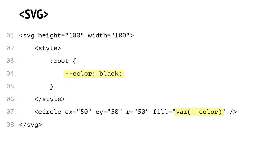 --color: black; var(--color) <SVG> <svg height=...