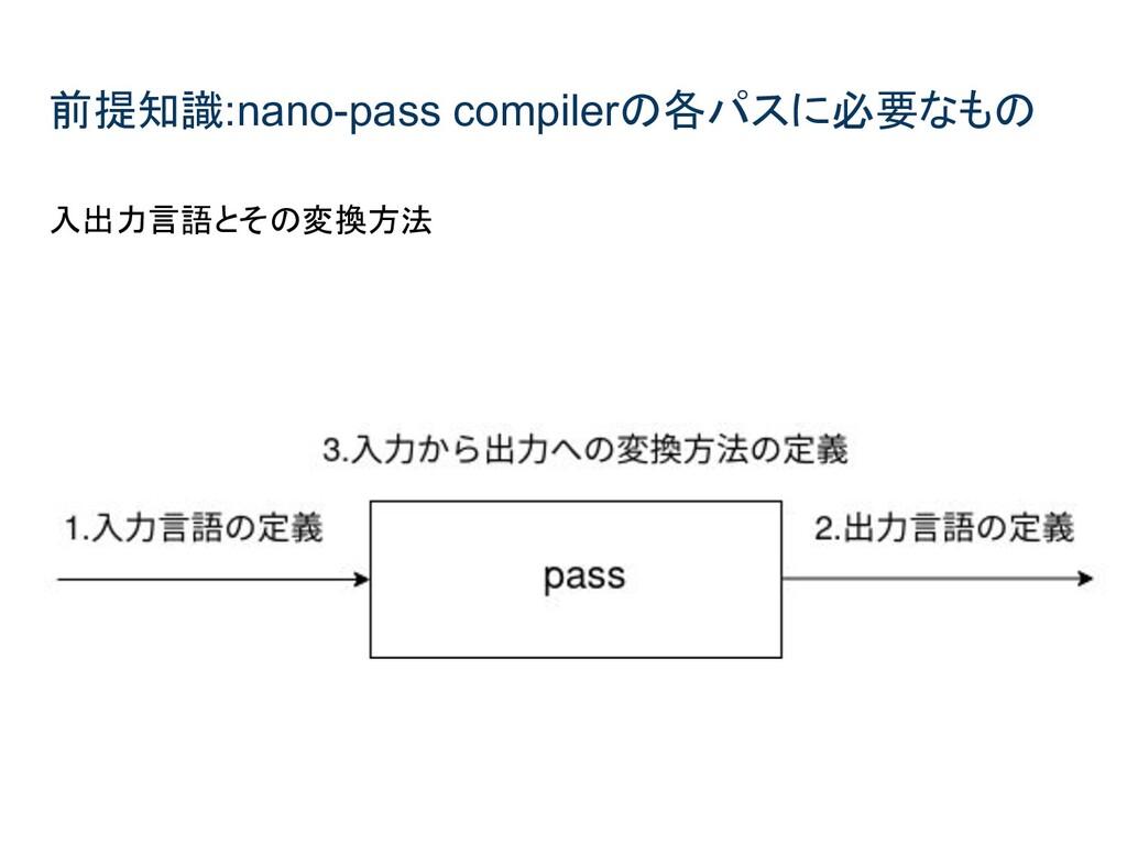 前提知識:nano-pass compilerの各パスに必要なもの 入出力言語とその変換方法