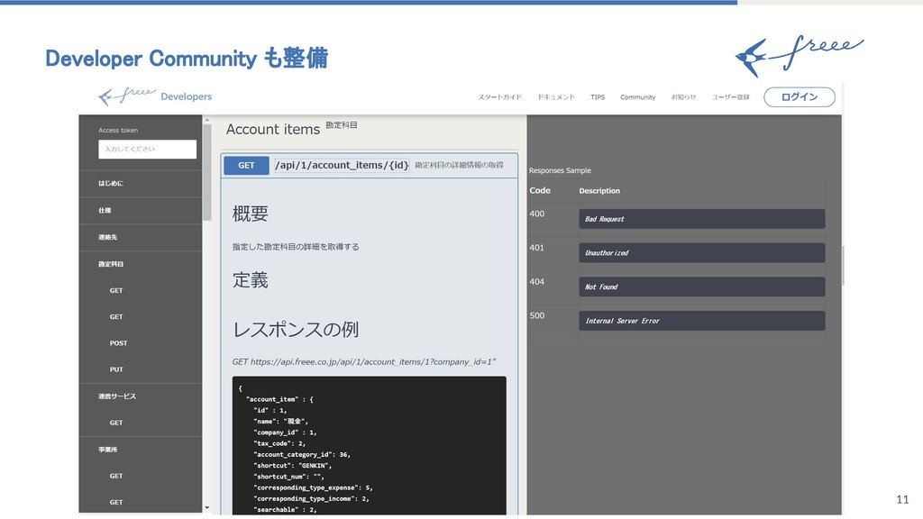 11 Developer Community も整備