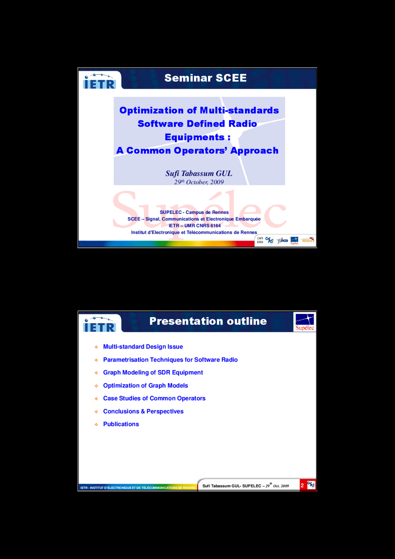 1 Seminar SCEE Optimization of Multi Optimizati...
