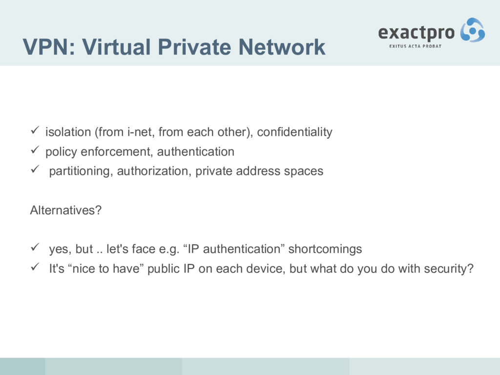 VPN: Virtual Private Network  isolation (from ...