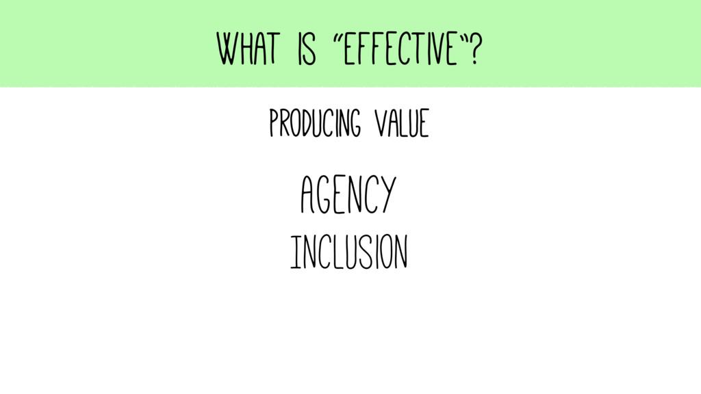 "What is ""Effective""? Producing Value Agency Inc..."