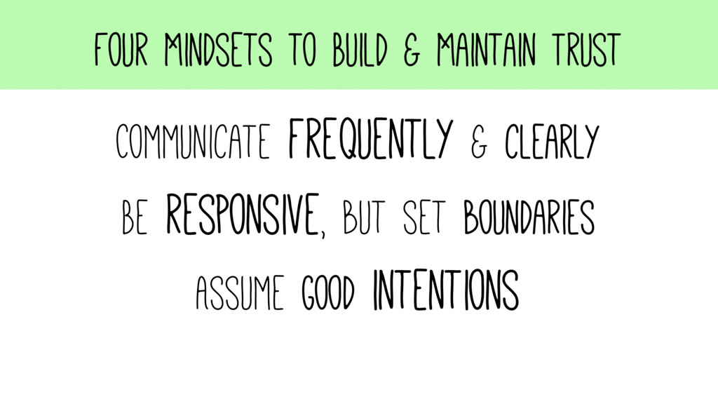 Four Mindsets to Build & Maintain Trust Communi...