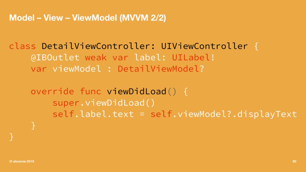 Model – View – ViewModel (MVVM 2/2) class Detai...