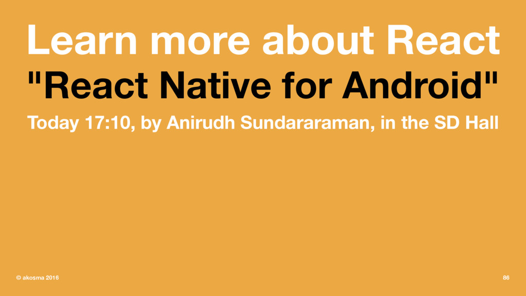 "Learn more about React ""React Native for Androi..."