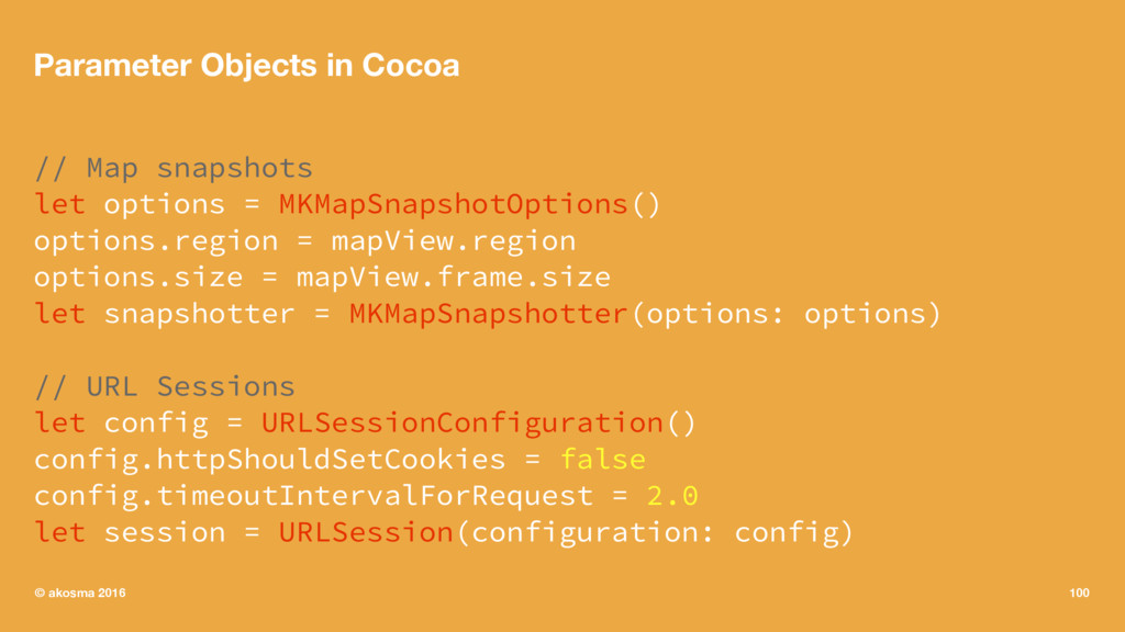 Parameter Objects in Cocoa // Map snapshots let...