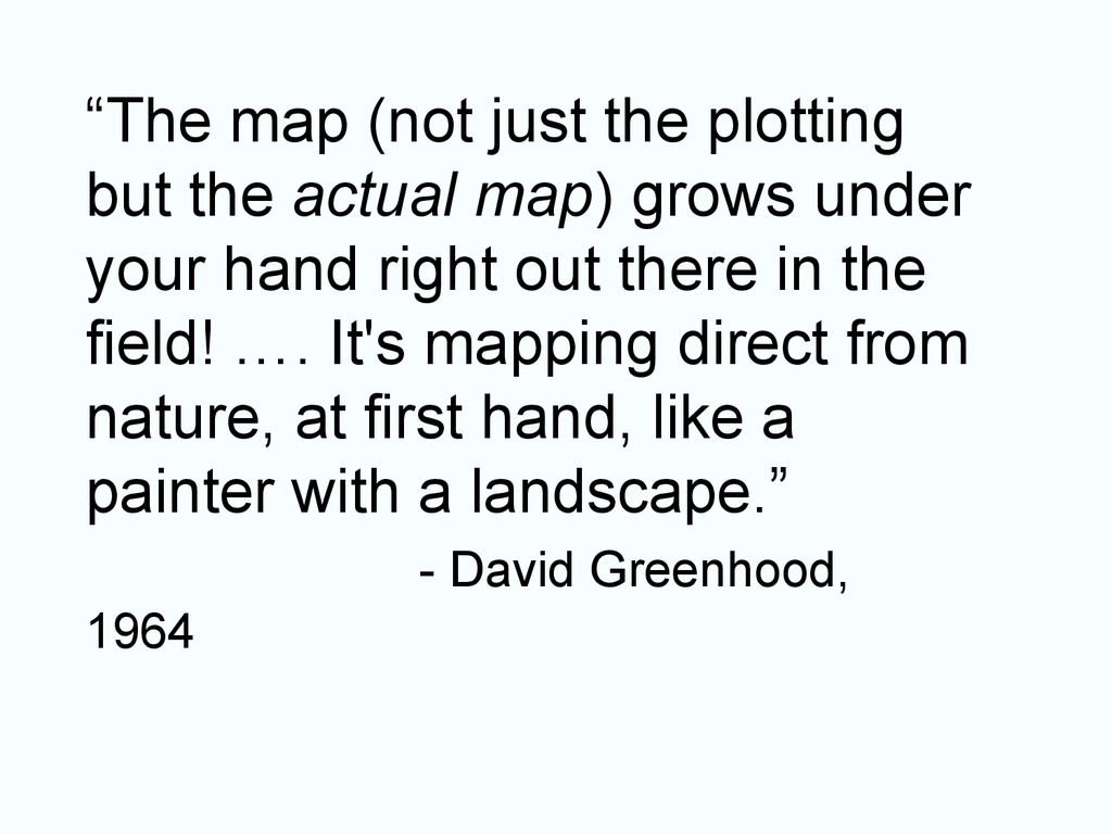 """""""The map (not just the plotting but the actual ..."""