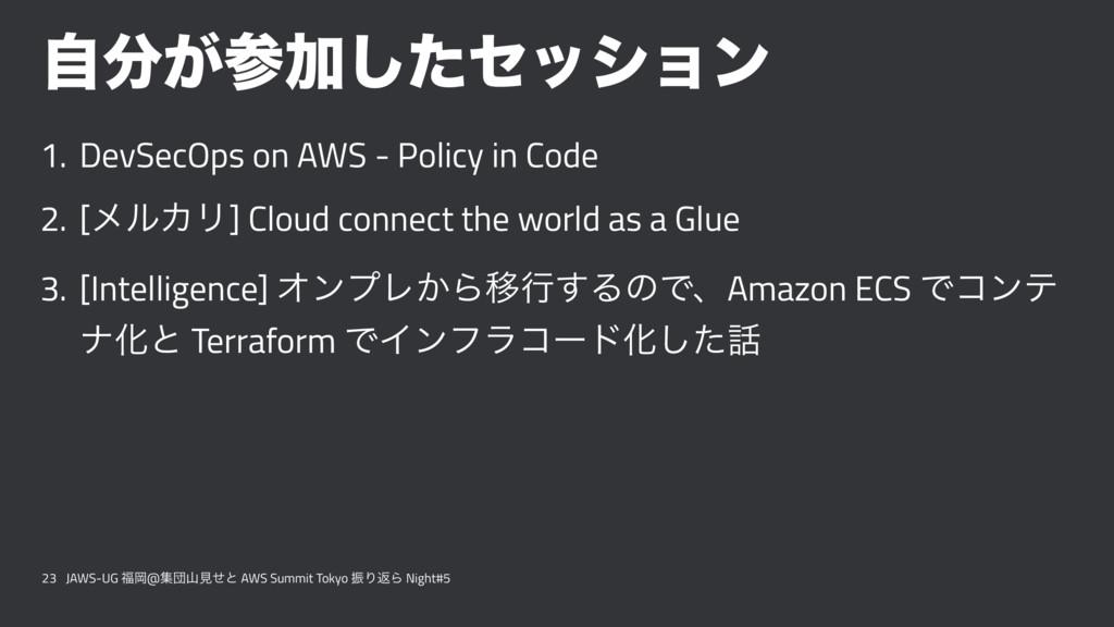 ͕ࣗՃͨ͠ηογϣϯ 1. DevSecOps on AWS - Policy in Co...