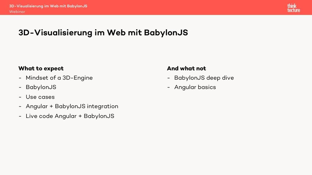 3D-Visualisierung im Web mit BabylonJS Webinar ...