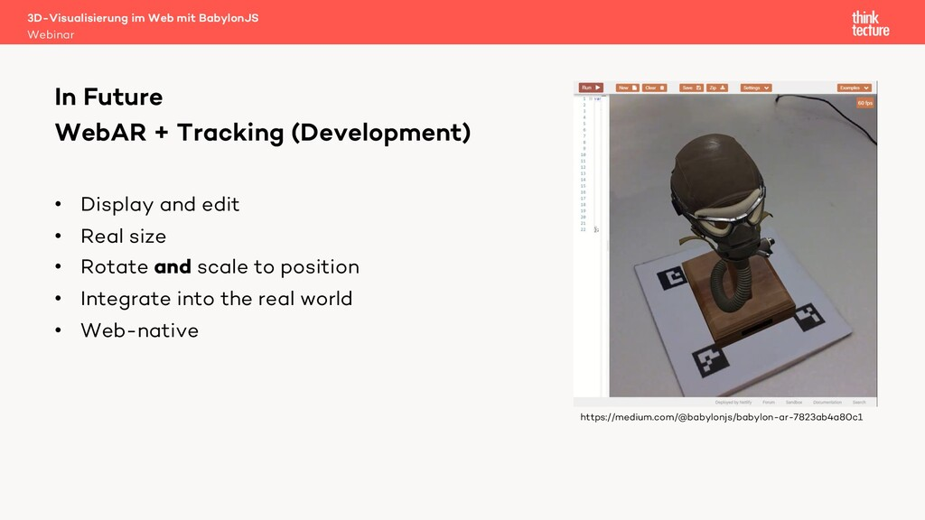 WebAR + Tracking (Development) In Future https:...