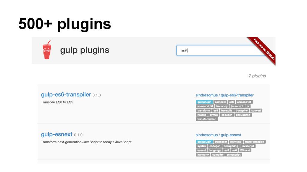 500+ plugins