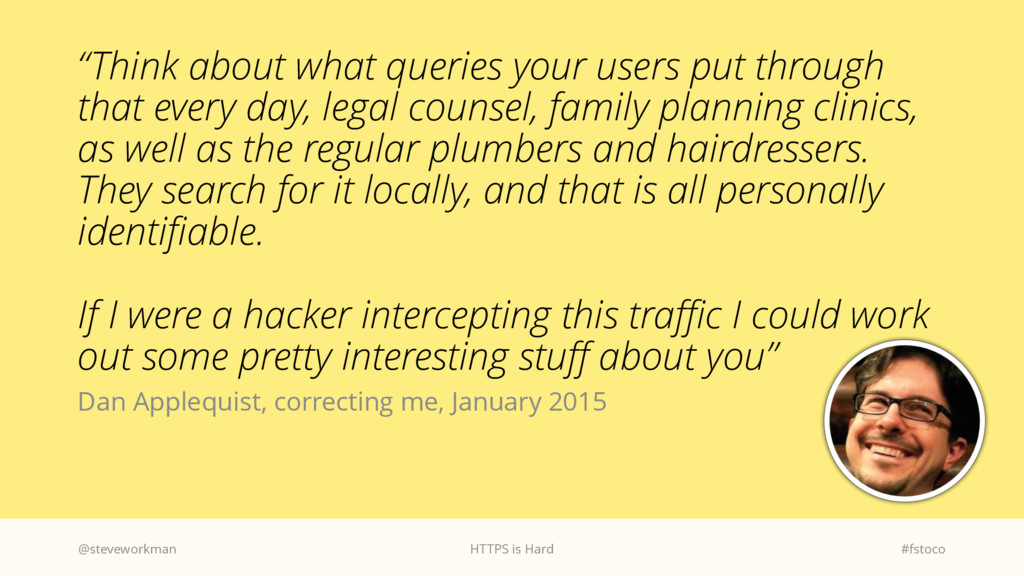 """Think about what queries your users put throug..."