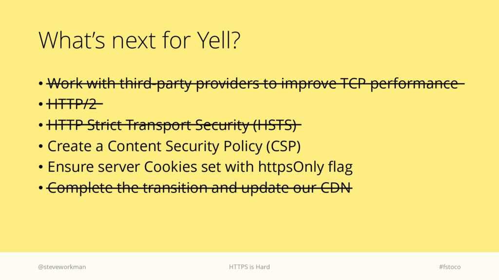 What's next for Yell? • Work with third-party p...