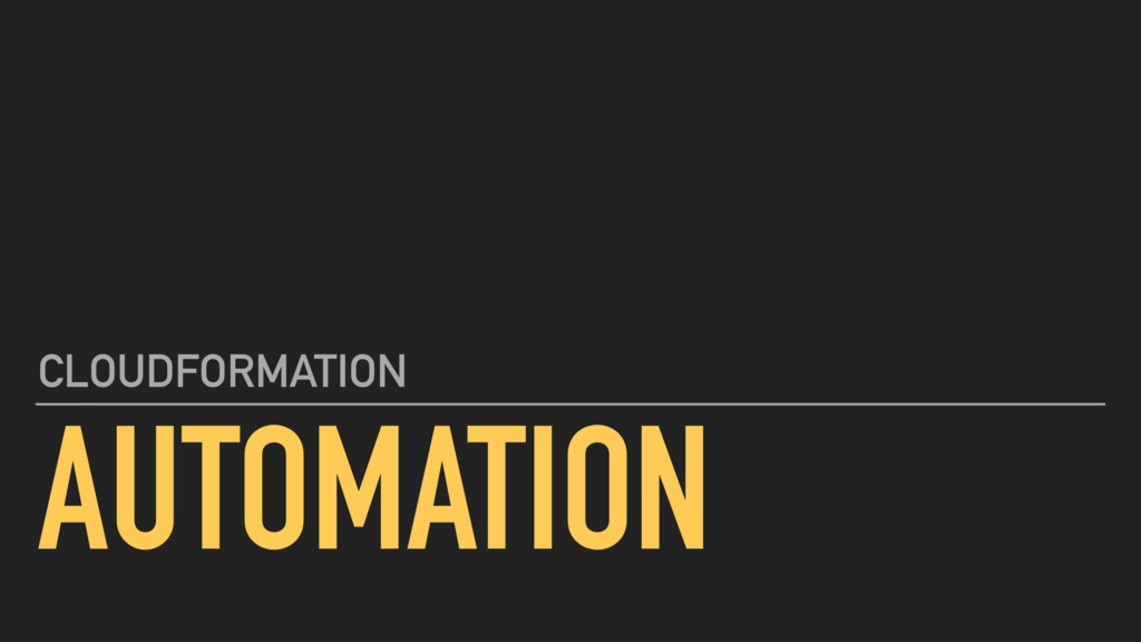 AUTOMATION CLOUDFORMATION
