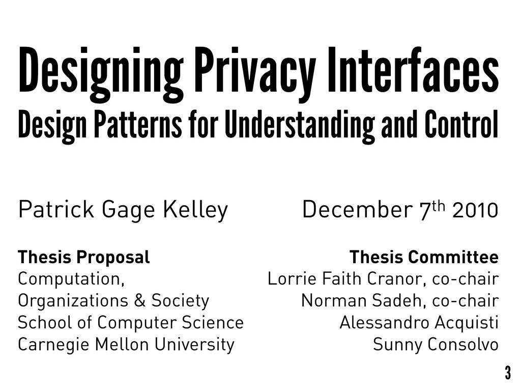 Designing Privacy Interfaces Design Patterns fo...
