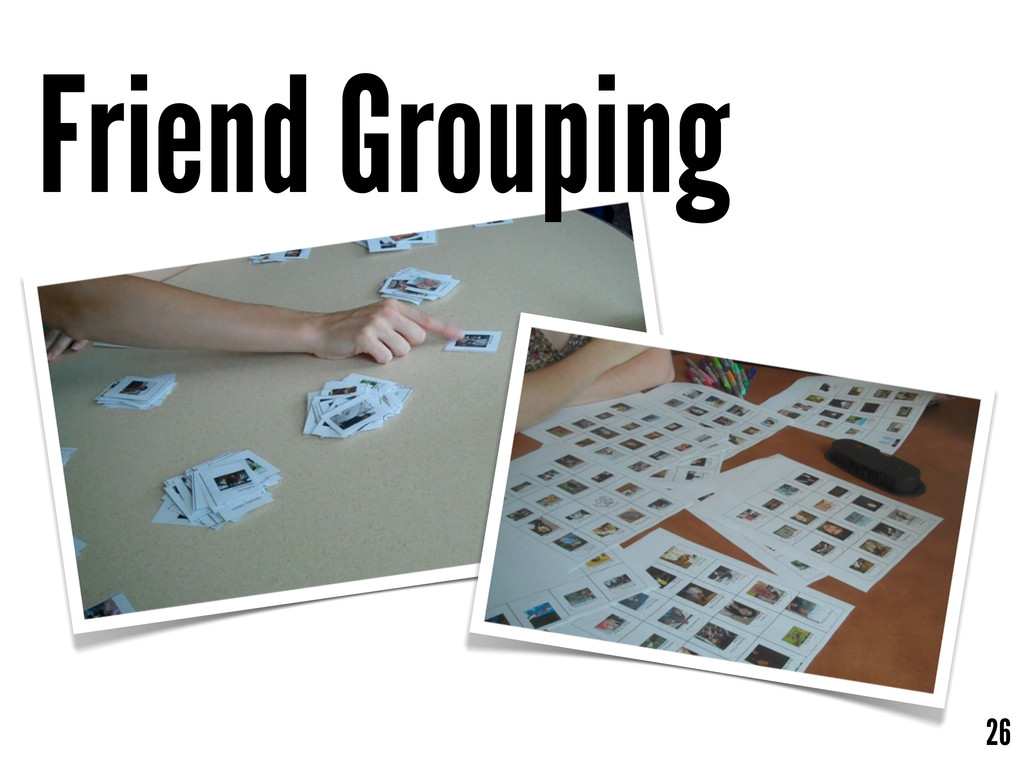 26 Friend Grouping