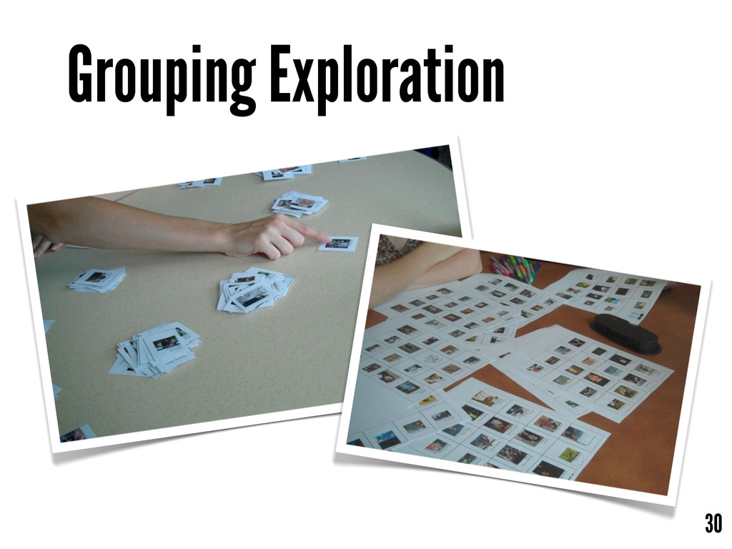 Grouping Exploration 30