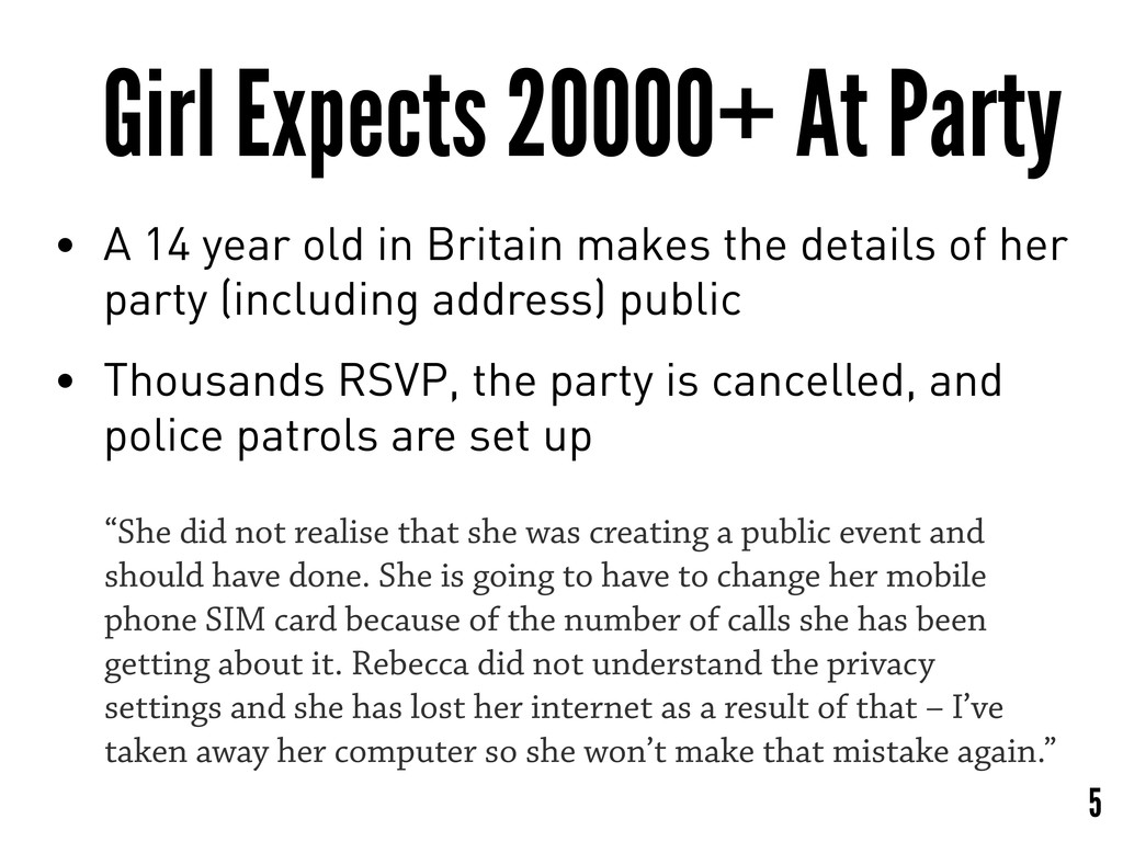 Girl Expects 20000+ At Party • A 14 year old in...