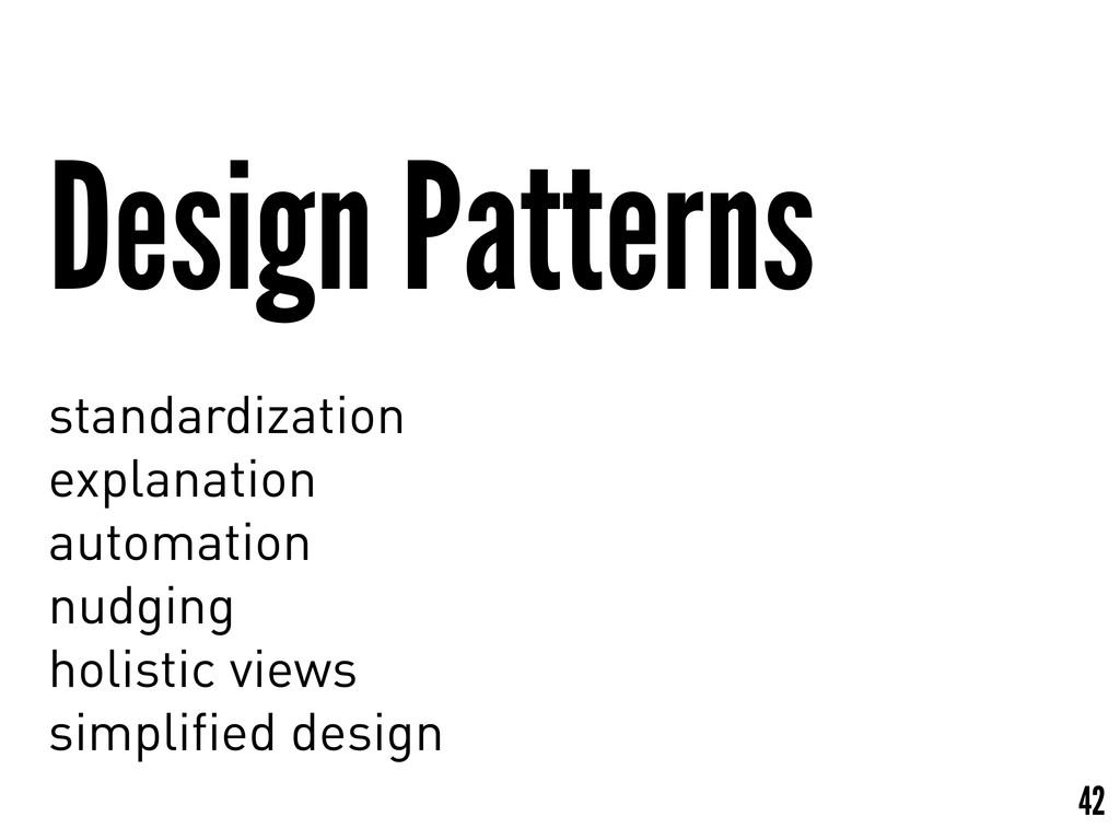 Design Patterns standardization explanation aut...