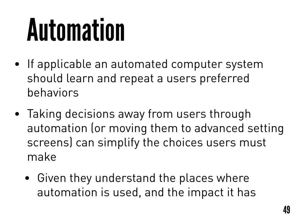 Automation • If applicable an automated compute...