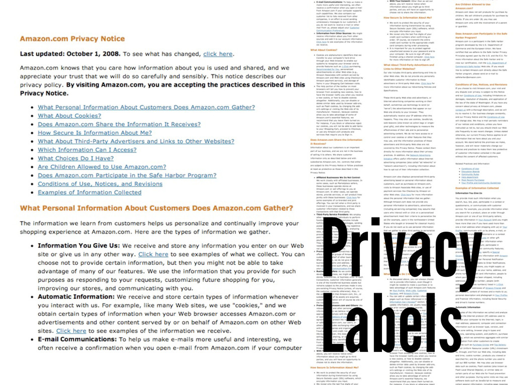 Privacy Labels