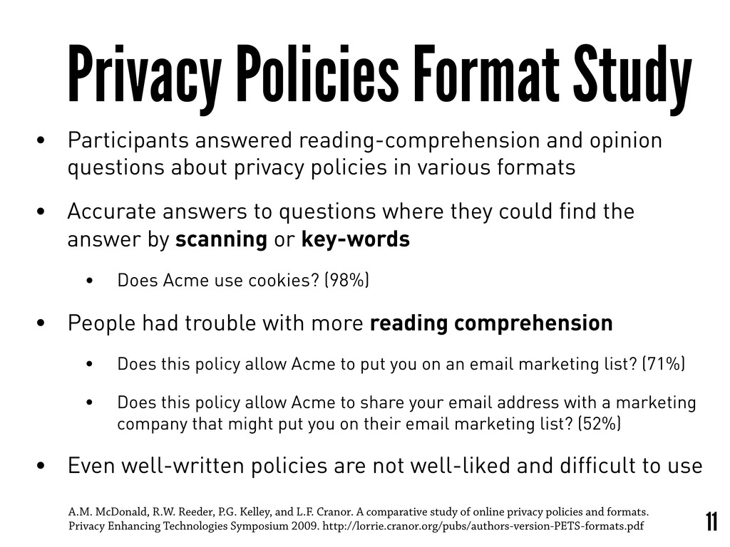 Privacy Policies Format Study • Participants an...