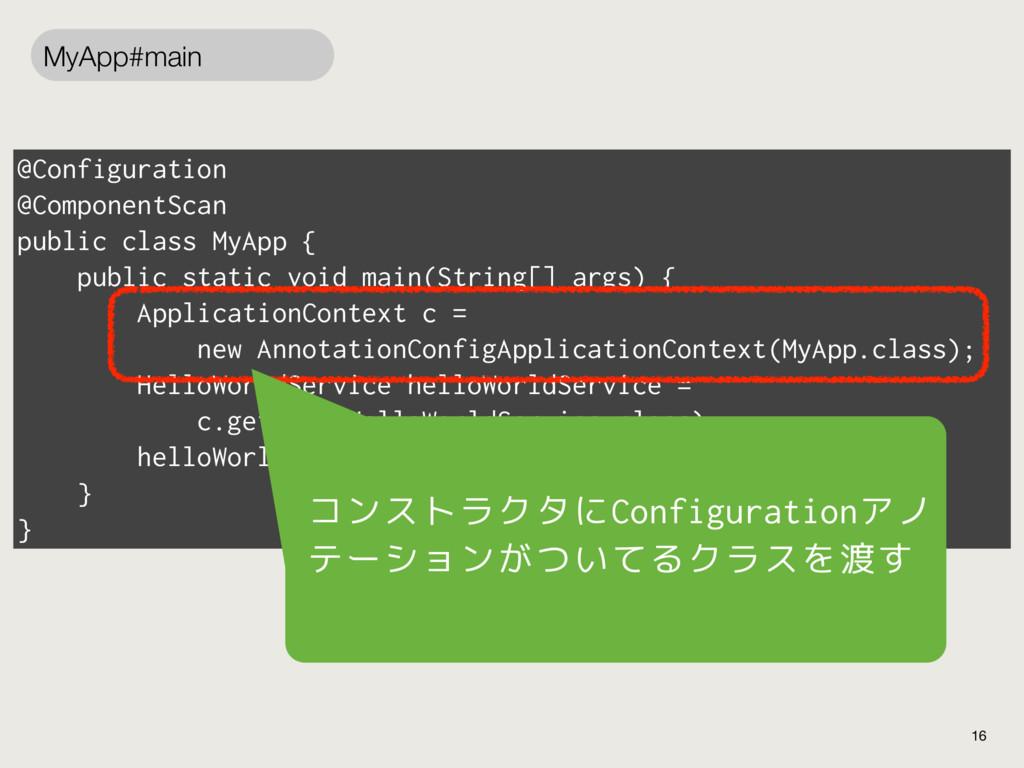 @Configuration @ComponentScan public class MyAp...