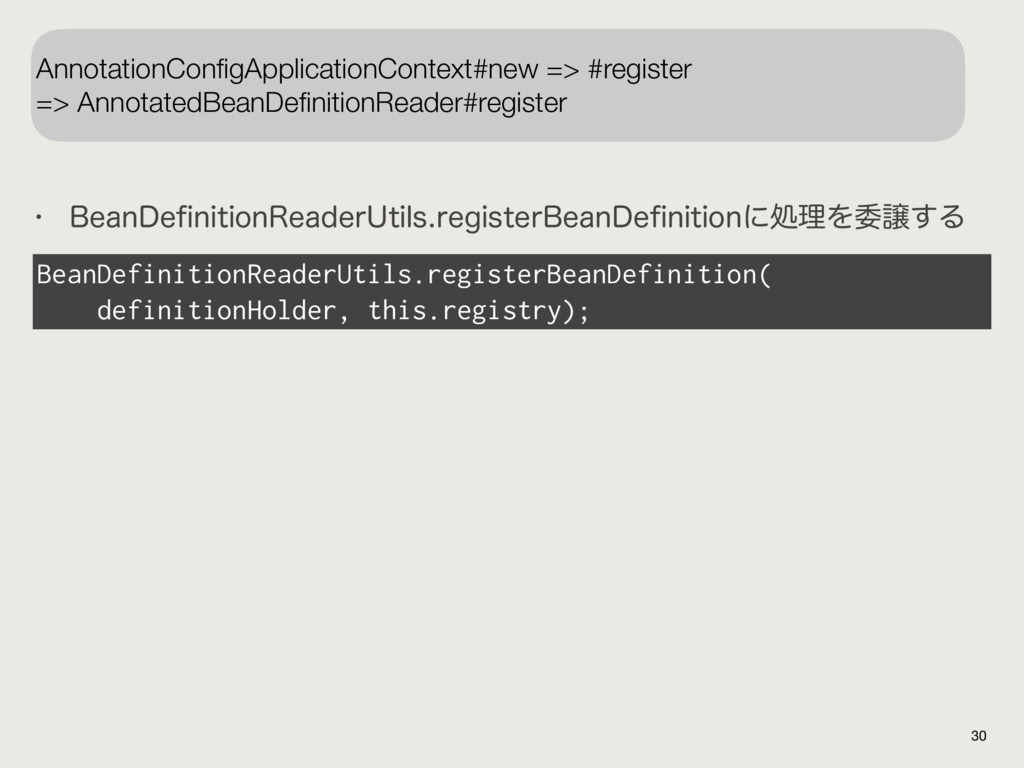 30 AnnotationConfigApplicationContext#new => #re...