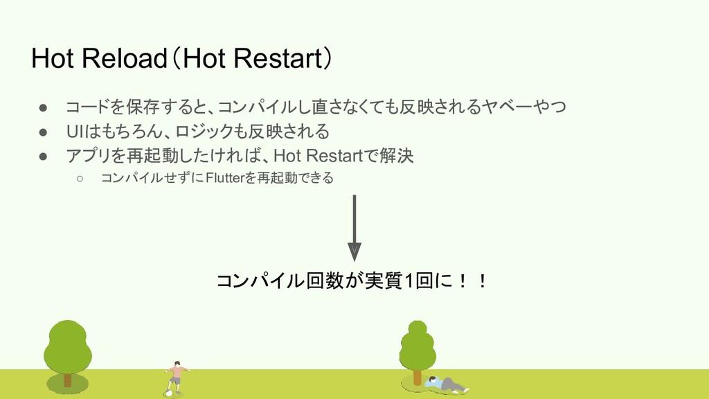 #bitvalley2020 Hot Reload(Hot Restart) ● コードを保存...