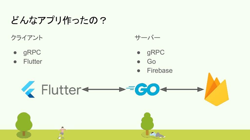 #bitvalley2020 どんなアプリ作ったの? クライアント ● gRPC ● Flut...
