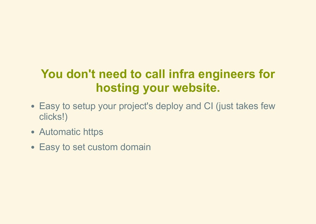 You don't need to call infra engineers for host...