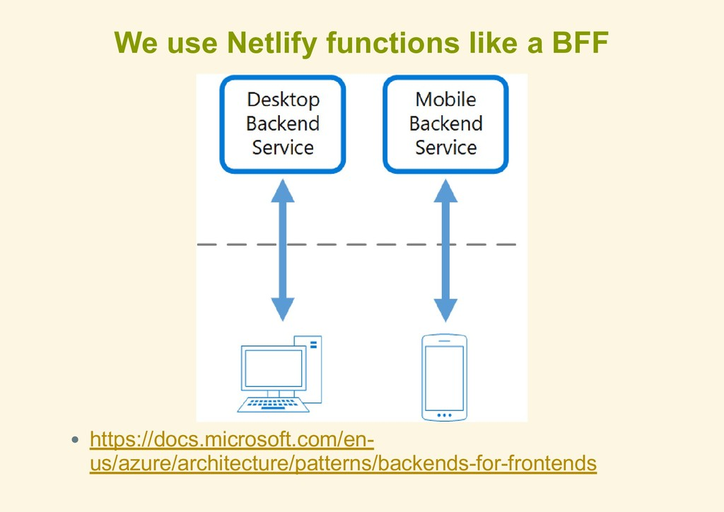 We use Netlify functions like a BFF https://doc...