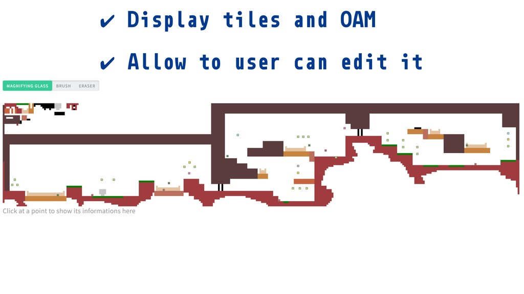 ✔ Display tiles and OAM ✔ Allow to user can edi...