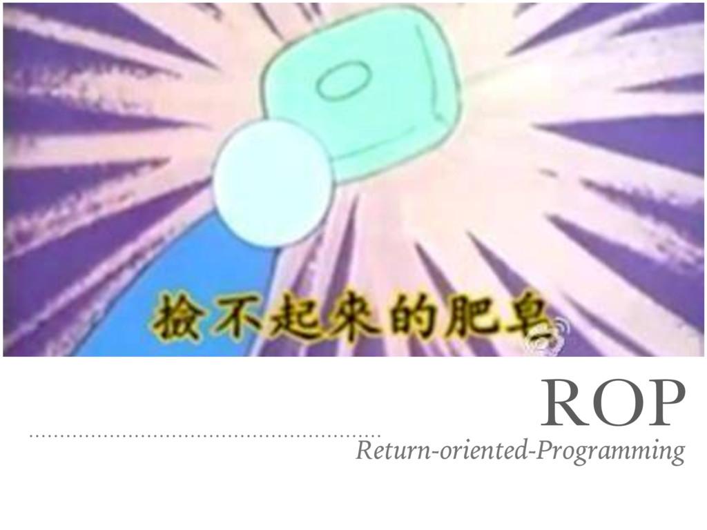 ROP Return-oriented-Programming
