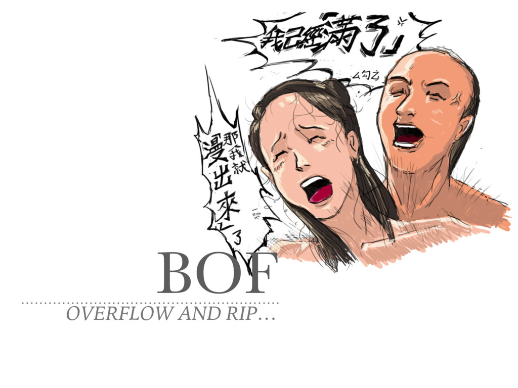 BOF OVERFLOW AND RIP…