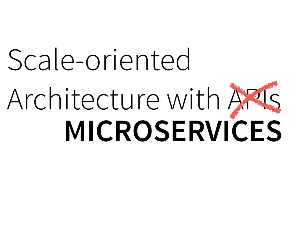 Scale-oriented Architecture with APIs MICROSER...