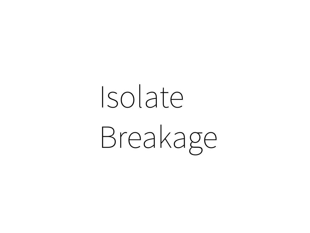 Isolate Breakage